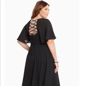 Torrid lace up back dress